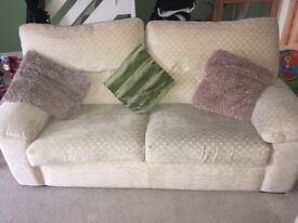 3 seater sofa, arm chair and ottoman foot stool
