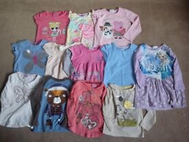 Girls t shirts etc age 2-3
