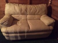 FREE. Two seater sofa, cream, 130 cm wide