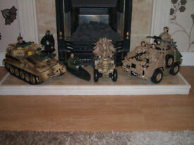 3 H.M. Armed Forces Vehicles & 8 H.M. Armed Forces Figures
