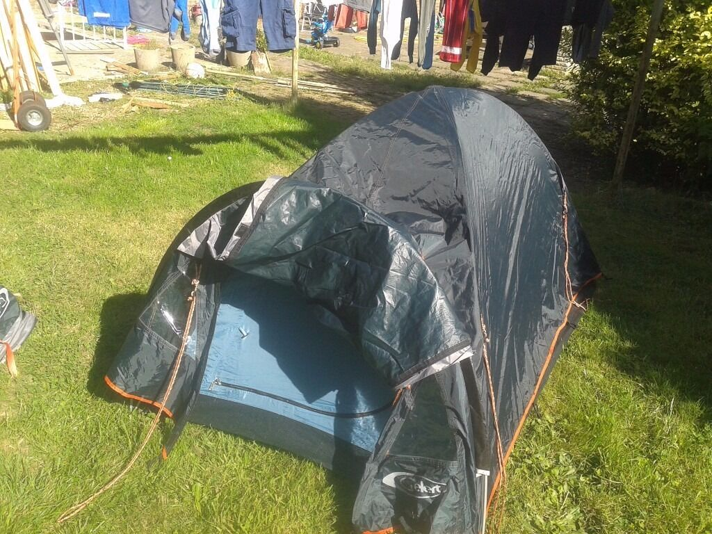 Gelert Rocky 2 man tent. AS NEW in bag with flysheet/pegs/porch,Very nice tent for festivalsin Thetford, NorfolkGumtree - Gelert Rocky 2 man tent. AS NEW,Very nice tent for festivals,Gelert Rocky 2 man tent. AS NEW,Very nice tent for festivals