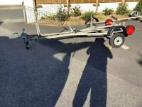 Galvanised Road trailer and launching trolley