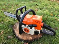 "Stihl MS170 Petrol Chainsaw - new 14"" bar and chain - serviced"