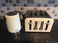 Russell Hobbs cream kettle & toaster set