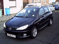 2006 06 PEUGEOT 206 SW 1.4 HDI DIESEL ESTATE ** ONLY 65500 MILES ** £30 ROAD TAX ** 12 MONTH MOT **