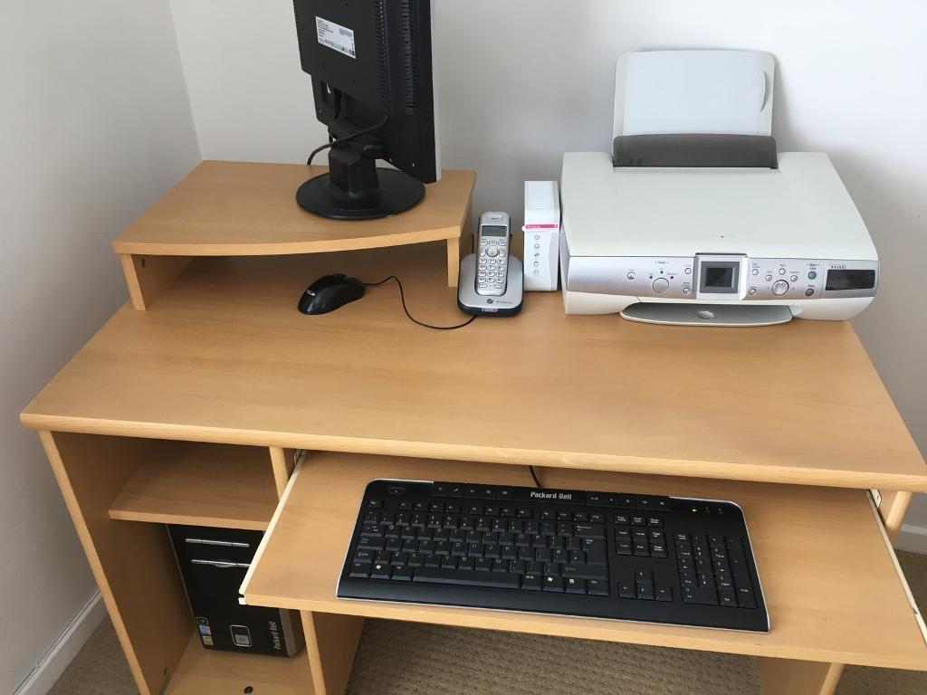 Sy Wheeled Computer Desk Workstation 99 Ono