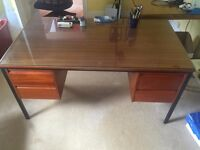 Wooden desk with draws