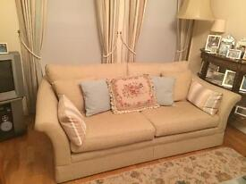 Two Laura Ashley style Marks and Spencer sofas settees pair