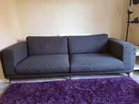 Ikea Nockeby 3 Seater Sofa Dark Grey *Less than 6 months old*