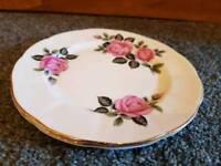 2 Floral Pink, Bone China, Side Plates
