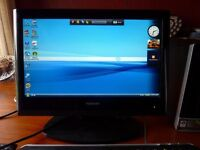 Windows vista pc complete with 19 Inch lcd toshiba tv monitor,