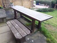 Free - Solid Wood Table - Garden/ Workshop Bench