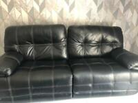 SCS power recliner leather 3 seater sofa