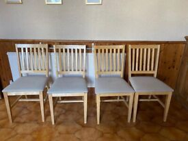 4 Solid Wood Kitchen / Dining Chairs