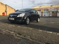 Black Vauxhall Corsa Breeze 2008 with 3 doors 1.2L engine (petrol) and runs really well.
