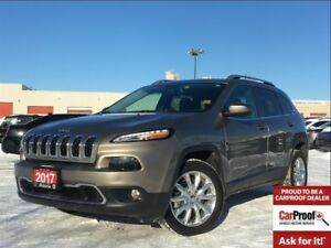 2017 Jeep Cherokee LIMITED**LEATHER**BLUETOOTH**NAVIGATION**