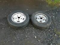 2 r15 5 stud ford transit mrk 6 van wheels / used tyres