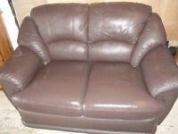 Brown Leather Sofa - Regular Size