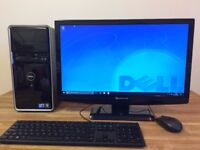 "GAMING PC Dell QUAD CORE, 8GB Ram, 500GB, GeForce HDMI + 23"" FULL HD Monitor Office Desktop PC"