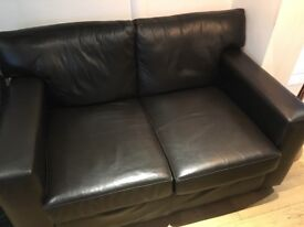 2 Brown Leather Sofa's (3&2seater) Great condition!