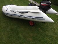 inflatable rib with 15hp mercury engine