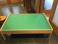 Play table with drawers