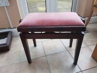 Piano stool adjustable height