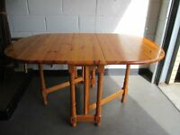 PINE GATE LEG DINING TABLE FREE DELIVERY