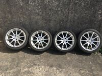4 Dezent alloy wheels