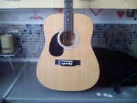 Left handed martin smith acoustic guitar £45 cash