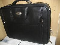Brand new black leather Antler laptop bag