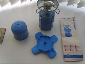 Camping Stove Camping Gaz Bleuet 206 WITH NEW FULL GAZ BOTTLE
