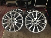 Alloy wheels 5x108,17 inch,suit jaguar,ford,Volvo, just refurbished.