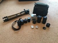 Canon rebel T3i 600D with loads of lens and accessories