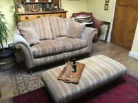 Parker Knoll large two seater sofa with matching bench