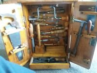antique/vintage sorby tool cabinet