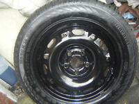 V W GOLF/POLO/SEAT IBIZA/LEON,ETC , C/W AS NEW CONTINENTAL 185/60/14 TYRE,BOTH EXCEL CONDITION ,