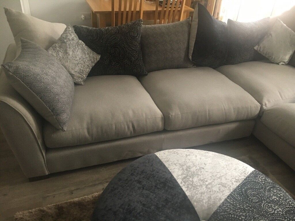 Corner Sofa Dfs Ariana With Armchairs And Round Footstool