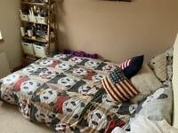 Tan, Modern Sofa Bed - Small Double (Queen)