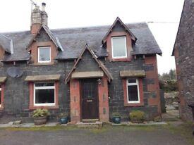 2 bedroom semi detached farm cottage, lauder