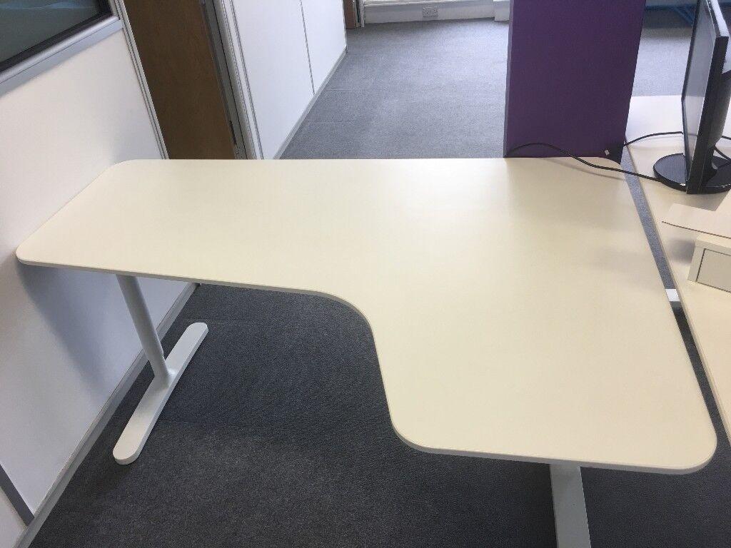 Ikea bekant white right hand office desk excellent condition