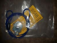 36 inch gas hose restraining kit with fixings.
