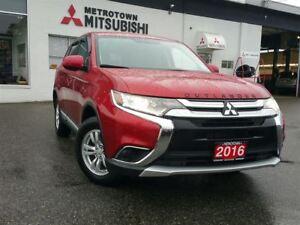 2016 Mitsubishi Outlander ES 4WD; LOCAL & NO ACCIDENTS