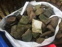 Grab bag full of rockery stones