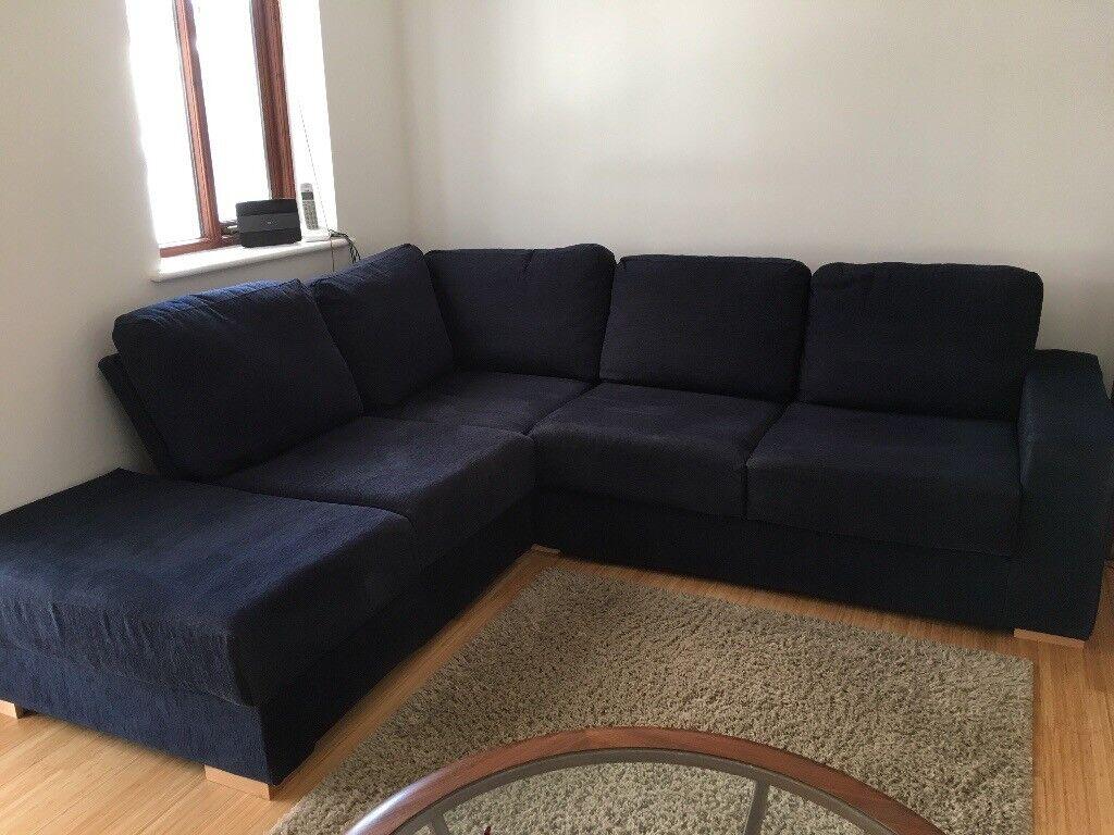 Navy Blue Nabru Corner Sofa In Dartmouth Devon Gumtree