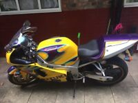 Gsxr 600 limited edition all star yellow