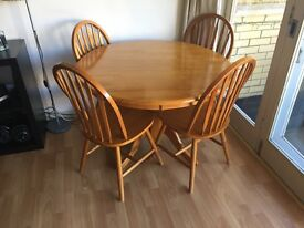 Dining set - table and 4 chairs