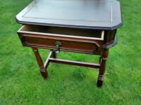 Side Table with draw. Hardwood Good Condition