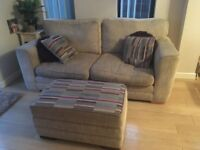 settee and pouffe