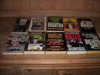 American Gangland & Mafia/Gangland Crime Families. Majority quite rare, printed & published in USA